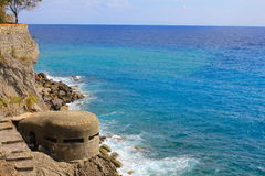WW II Bunker, Cinque Terre, Italy Royalty Free Stock Photo