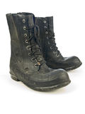 WW II era army rubber boots Stock Photo