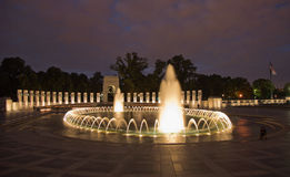 WW II monument Washington DC Night Royalty Free Stock Photo