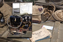 WW II Morse Code Machine - horizontal. A World War II field morse code machine Royalty Free Stock Image