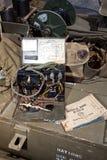 WW II Morse Code Machine - vertical. A World War II field morse code machine Royalty Free Stock Photography
