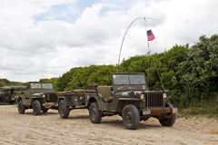 WW2 Jeeps Stock Photography