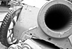 WW2 kanon stock afbeelding