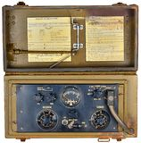 Ww2 manpack radio tranceiver Royalty Free Stock Images