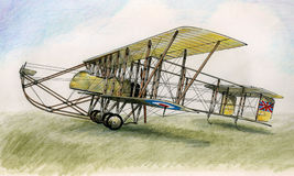 WW1 Maurice Farman MF7 vector illustratie