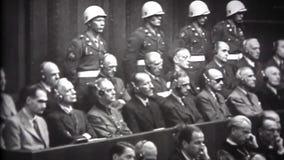 WW2 - Nürnberger Prozesse-Montage stock footage