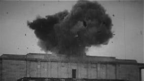 WW2 - Nazi Symbol Explodes And Flag quemó