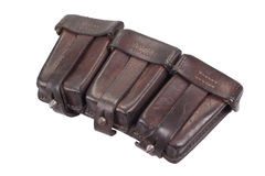 Ww1 period leather ammo pouch Royalty Free Stock Images