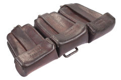 Ww1 period leather ammo pouch Royalty Free Stock Image