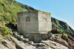 WW11 Pillbox. Erected as part of the defence of Britain Royalty Free Stock Photo