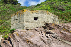 WW11 Pillbox. Erected as part of the defence of Britain Royalty Free Stock Image