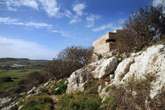 WW11 British bunker. Malta Stock Image