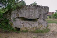 WW1 pillendoosje bij Heuvel 60 dichtbij Ypres stock foto's