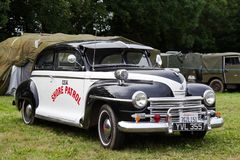 WW2 Plymouth patrol car Stock Images