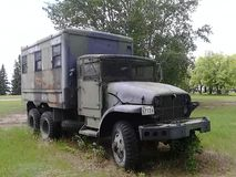 WW2 Prison transport truck Stock Images