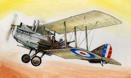WW1 RE8 illustration stock