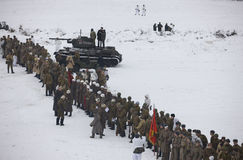 ww rouge patriotique de guerre des temps d'armée II grand Images stock
