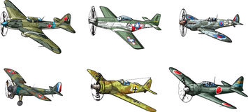 WW2 samolot royalty ilustracja