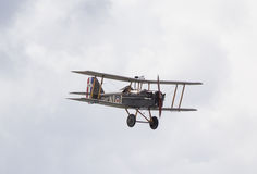 WW1 SE5A Biplane in flight Royalty Free Stock Images