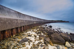 WW2 sea defences Stock Photos