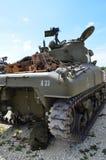 WW2 Sherman battle tank. Royalty Free Stock Photos