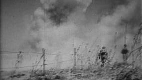WW1 - Soldados aliados en zona de combate de la África del Norte almacen de metraje de vídeo