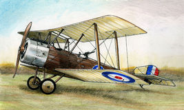 WW1 Sopwith 1 1/2 Strutter illustration de vecteur