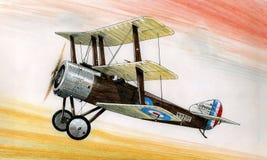 WW1 Sopwith 1 1/2 Strutter illustration libre de droits