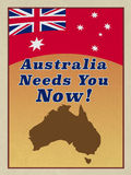 WW1 Style ANZAC recruitment poster. Royalty Free Stock Photo