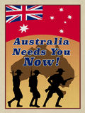 WW1 Style ANZAC recruitment poster. Royalty Free Stock Image