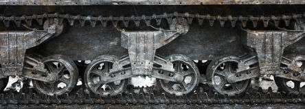 WW2 tank close-up Royalty Free Stock Images
