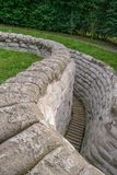 WW1 Trenches near Ypres in Belgium. WW1 Trenches near Ypres Belgium Royalty Free Stock Photo