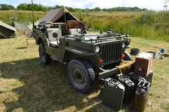 WW2 USA Military Jeep. Royalty Free Stock Photo