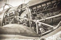 WW2 vechtersvliegtuig Royalty-vrije Stock Foto's