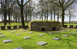 WW1 War Cemetery in Flanders Stock Photography