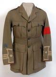 WW1 British officer's uniform stock photography