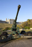 WW2 Artillery and Officer's Mess at Dover Castle Royalty Free Stock Images