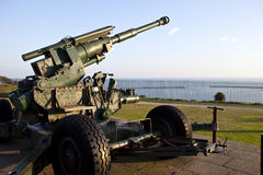 WW2 Artillery Pointed at the English Channel. WW2 Artillery at Dover Pointed towards the English Channel Stock Images