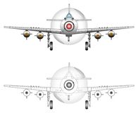 WW2 fighter plane vector art Royalty Free Stock Photos
