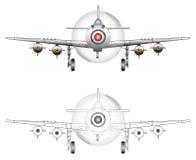 WW2 het vectorart. van het vechtersvliegtuig Royalty-vrije Stock Foto's