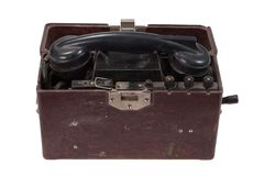 Ww2 military phone Stock Images