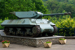 WW2 tank on display Royalty Free Stock Photo