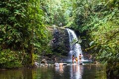 Wwaterfall El Encuentro Stock Photo