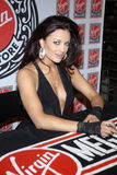 WWE Diva Maria Kanellis appearing. WWE Diva Maria Kanellis signing her issue at Virgin Megastore in Hollywood in May 2008 Royalty Free Stock Image