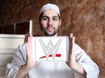WWE, entretenimiento de lucha del mundo, logotipo Fotografía de archivo