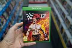 WWE 2K17 videogame on XBOX One Stock Photo