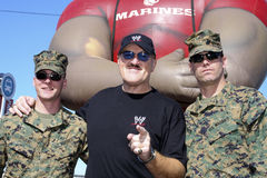 WWE Sgt. Slaughter and two Marines Royalty Free Stock Photography