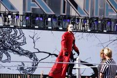 WWE zapaśnika Sting stojaki na górze turnbuckle przed dopasowaniem Fotografia Royalty Free