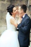 Wwedding obrazek państwo młodzi Obrazy Royalty Free