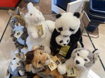WWF plushes for sale. BOLOGNA, ITALY - CIRCA APRIL 2018: WWF plushes for sale Stock Photos